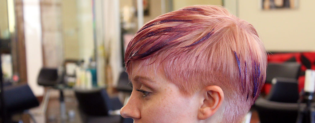 Balayage pink highlights...